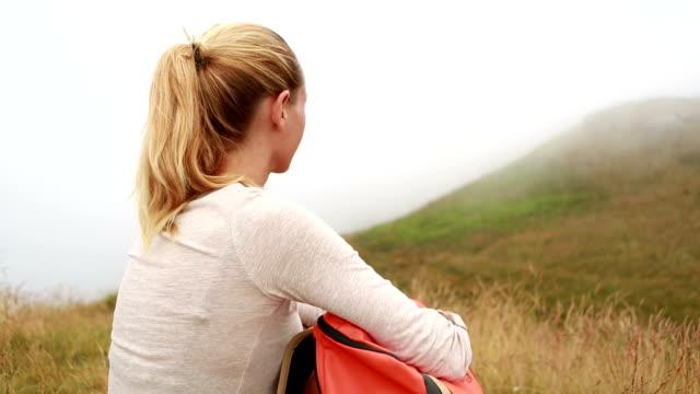 Wanderer, eine Pause in der Natur