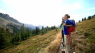 hikers admiring nature
