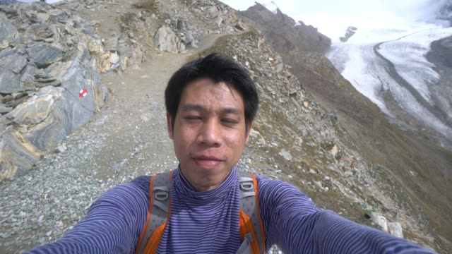 Hiking in Aletsch Glacier in the Switzerland