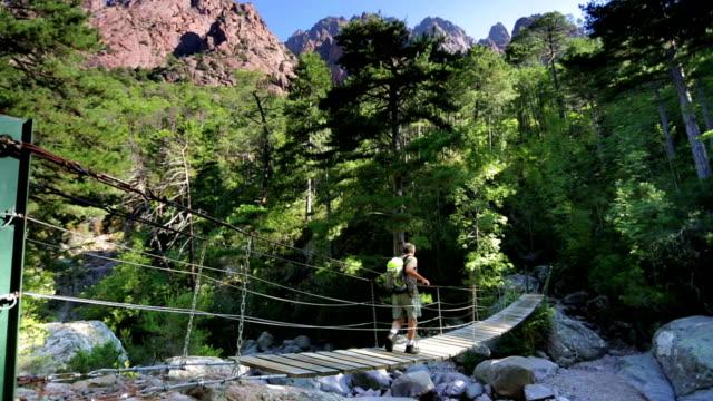 Hiking over Hanging Bridge