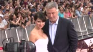 Hilaria Thomas Baldwin and Alec Baldwin at 'Mission Impossible Rogue Nation' New York Premiere at Times Square on July 27 2015 in New York City