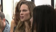 Hilary Swank at De Re Gallery Casamigos Tequila Host The Opening Of Brian Bowen Smith's WILDLIFE Show at De Re Gallery on October 23 2014 in West...