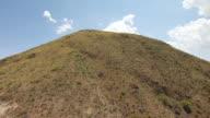 CU AERIAL LA TU Hill to ridge in Chihuahuan Desert in Big Bend State Ranch Park / Texas, United States