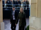 Hillary Clinton arrives at London Conference on Somalia