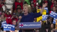 Hillary Clinton criticized the insulting language on the Republican campaign trail as she held a celebratory rally in New York City on Wednesday...