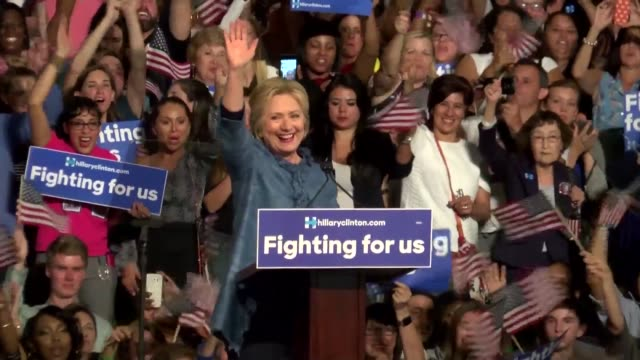 Hillary Clinton earns three more big wins in her quest to become the Democratic partys nominee sweeping to victory in Florida Ohio and North Carolina...