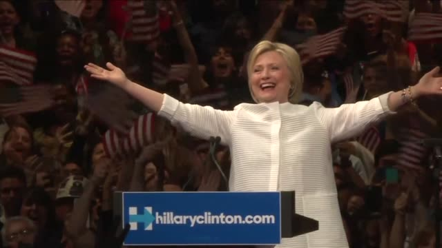 Hillary Clinton hailed a historical milestone for women Tuesday as she claimed victory over rival Bernie Sanders in the Democratic White House...