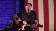 Hillary Clinton holds a campaign event in Manchester New Hampshire with acoustic legend James Taylor who dedicated a song to her
