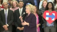Hillary Clinton holds a campaign rally at Manual High School in Denver Colorado