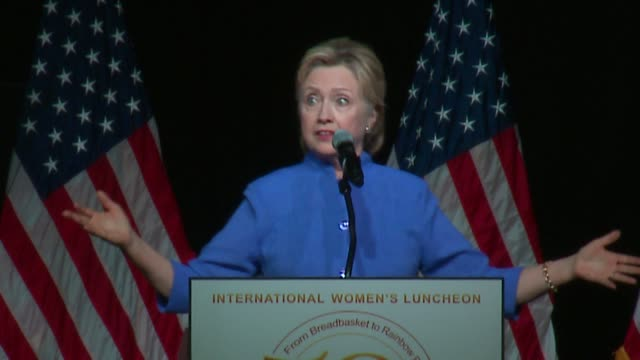 WGN Hillary Clinton Says Donald Trump 'in it for Himself' and 'Temperamentally Unfit to be President' as the keynote speaker at the Operation PUSH...