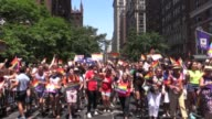Hillary Clinton supporters march in Gay Pride Parade greet Edie Windsor