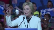 Hillary Clinton takes aim at Donald Trump during victory speech on Super Tuesday