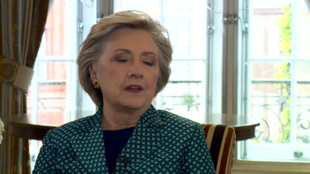 Hillary Clinton talking about her friend Oscar de la Renta and how he is an 'immigration success story' and criticises Donald Trump's stance on...