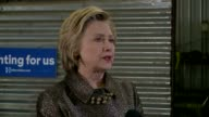 WXIN Hillary Clinton Talks About Concerns of Donald Trump's Campaign Foreign Policy Platform in Indianapolis Indiana on April 26 2016