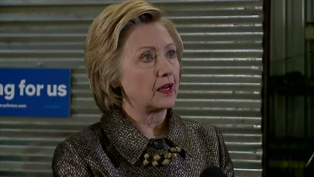 WXIN Hillary Clinton Talks About Supporting Manufacturing Industry in Indianapolis Indiana on April 26 2016