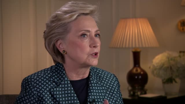 Hillary Clinton writes book that gives her views on the 2016 presidential election ENGLAND London INT Hillary Clinton interview SOT Talks of feeling...