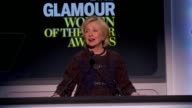 SPEECH Hillary Rodham Clinton introduces Gabrielle Giffords and Mark Kelly at Glamour Magazine's 23rd Annual Women Of The Year Awards Event at the...