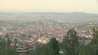 Hills and City of Ankara, Turkey