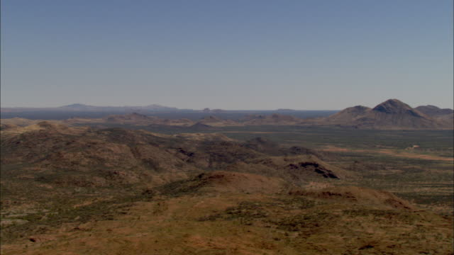AERIAL Hills in desert landscape, Darwin, Northern Territory, Australia