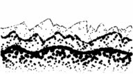 LANDSCAPE- hills, low and high mountains, pure black dots (LOOP)