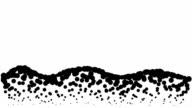 LANDSCAPE - hills, pure black dots (LOOP)