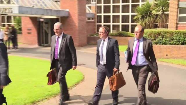 Five men appear in court charged in connection with disaster Cheshire Warrington Warrington Magistrates' Court Graham Mackrell and others leaving...