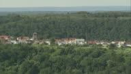 AERIAL Hilltop village, Saarland, Germany