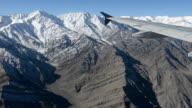 Himalaya mountains under clouds.