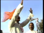 Hindu fundamentalist gives speech from platform New Delhi Nov 83