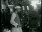 Hindu rally in Allahabad Jawaharlal Nehru speaking to people MS Indian Hindu people sitting listening