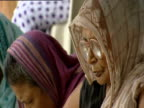 Hindu widows living in a rescue mission