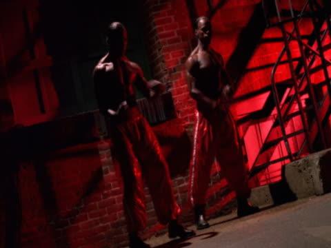 Hip hop dancers on stage