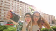 Hipster girlfriends funny selfie