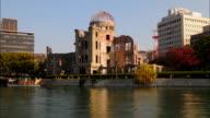 T/L WS Hiroshima Peace Memorial across river, Hiroshima, Japan