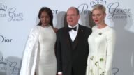 His Serene Highness Prince Albert II of Monaco Her Serene Highness Princess Charlene of Monaco and Naomi Campbell at 2016 Princess Grace Awards Gala...