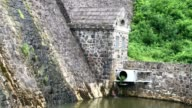 Historic German dam in South West Poland in Zagorze Slaskie near Swidnica city