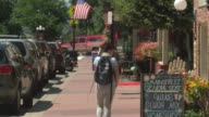 Historic Main Street in Parker Colorado is also the town's arts district and boasts quaint shops and restaurants plus the city park