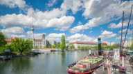 Historical Harbour Berlin Timelapse with cloud dynamic