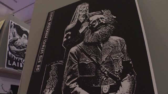 Hitler sporting a Marxist beard a record sleeve bearing a swastika this is not an exhibition devoted to fascism but the first retrospective of New...