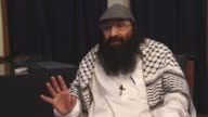 Hizbul Mujahideen chief Syed Salahuddin speaks at an exclusive interview in Islamabad Pakistan on July 19 2017 Salahuddin has dismissed the US's...