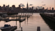 Hoboken Boat Dock with Midtown Manhattan in the Background