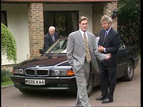 Hoddle appointed England football coach ENGLAND Berks Ascot MS Glenn Hoddle along from house INT London Royal Lancaster Hotel LS Pkf CMS Hoddle CMS...