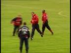 Hoddle names England squad TLS Alan Shearer in training Teddy Sheringham in training