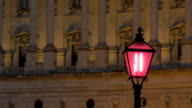 Hofburg Palace and Red street lamp