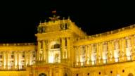 Hofburg bei Nacht-Hyperlapse