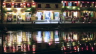 WS Hoi An café nightlife reflecting in river at night
