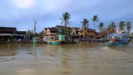 Hoi An, view of a boats in the river