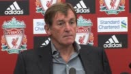 holds his preseason Liverpool FC press conference the day before the 2011/12 Premier League His team will be playing Sunderland the next day at...