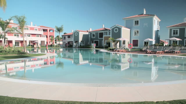 Holiday apartments and swimming pool