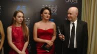 INTERVIEW Holly Taylor Annet Mahendru Alison Wright and Graham Yost on winning an award at the 2015 Critics' Choice Television Awards at The Beverly...